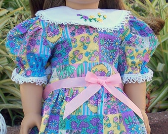 Easter Baskets Doll Dress, Fits 18 inch doll, Easter doll dress