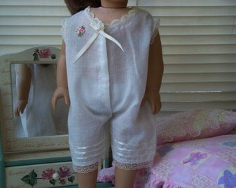 Handmade Doll Clothes One Piece Pajama fits 18 inch dolls, Handmade Doll Pijamas, Handmade dresses by WhisperingOak