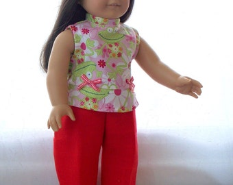 Handmade Doll Clothes Cropped Pants Suit fits 18 inch doll