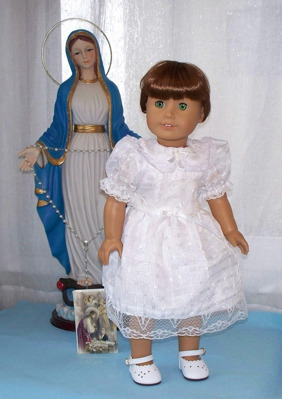 First Communion Dress - Fits American Girl Doll or 18 inch Doll - Doll Clothes