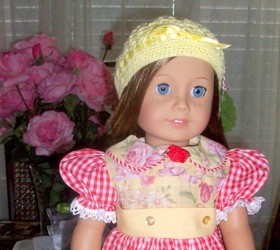 18 inch doll clothes - Red Gingham Doll Dress fits 18 inch doll or American Girl Doll