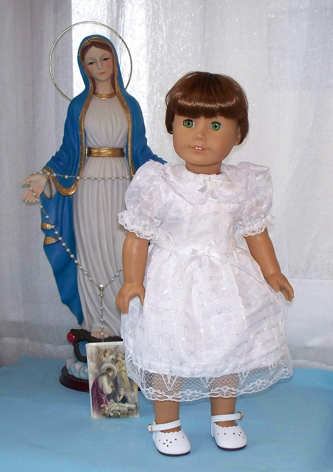 first communion dress fits american girl doll or 18 inch. Black Bedroom Furniture Sets. Home Design Ideas