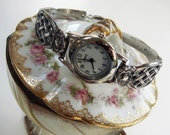 Vintage Sterling Silver Spoon Watch - Intricate Design