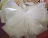 Bridal Pew Bow Bouquet Bow Centerpiece Bow White Bow