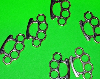 Silver Knuckles Charms Lot of 100 - Wholesale Lot