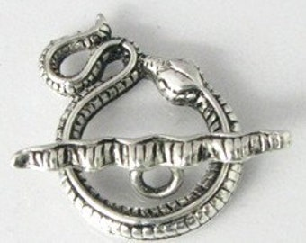 Silver Snake Toggle Clasp  lot of 2