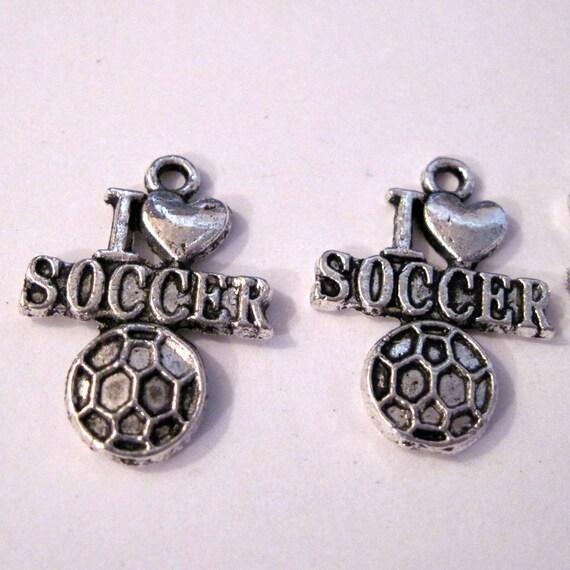 I Heart Soccer Charm lot of 5 LAST CHANCE CLEARANCE