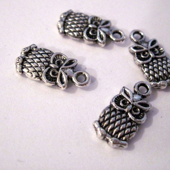 Mini Owl Charms lot of 10 - LAST CHANCE CLEARANCE