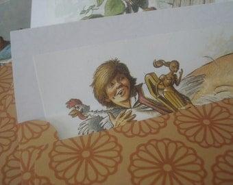 Jack and the Beanstalk Handmade envelopes