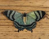 Mountain Lake Green Butterfly Brooch-Green Butterfly Pin-Green Insect Pin-Butterfly Jewelry-Moth Brooch-Moth Pin-Green Moth Pin