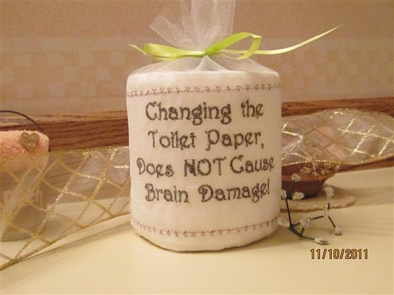 A unique gift embroidered toilet paper for Design your own toilet paper