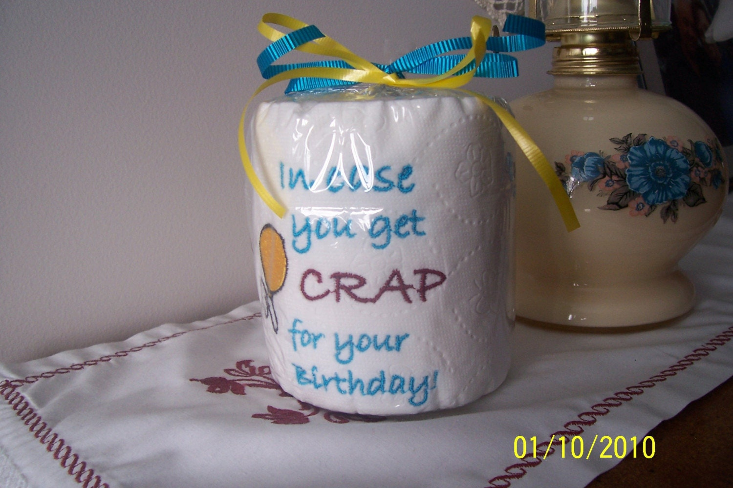 Unique Embroidered Birthday Toilet Paper