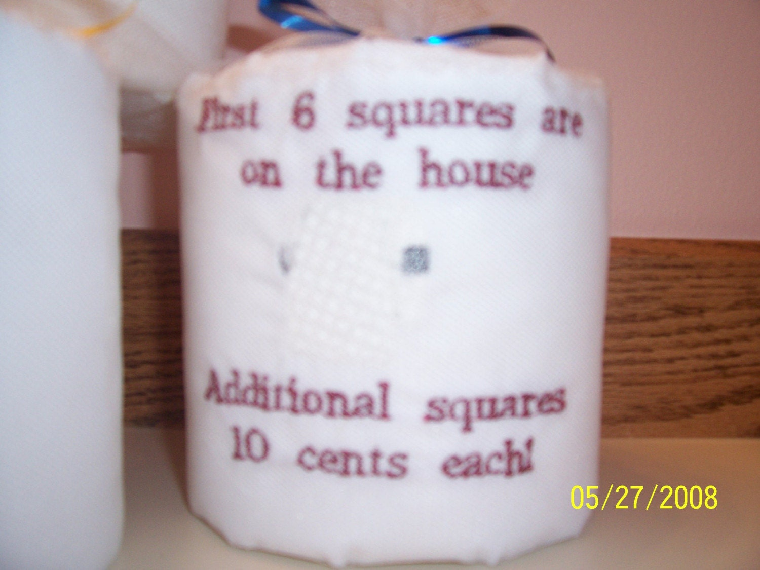 A Unique Gift Embroidered Toilet Paper By Grannydebdesigns