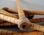 DOZEN vintage wooden industrial thread spools, bobbins