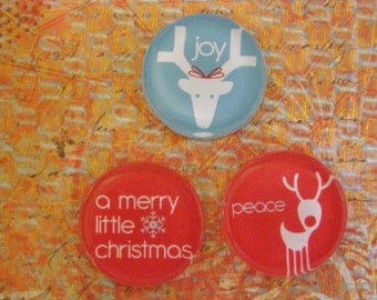 Holiday Wishes Magnet Set in Gift Tin