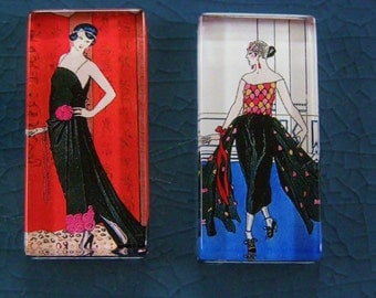 1920s Parisian Pair Magnet Set