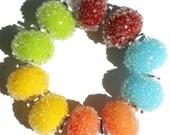 Summer Mix Sugar Bead Pairs - Handmade Lampwork Beads - FIREANDFIBERS SRA