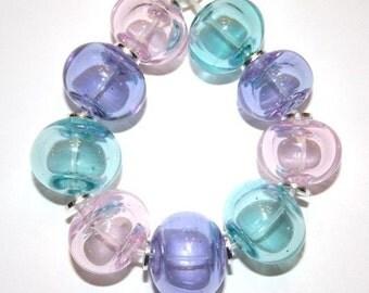 Cotton Candy Hollows Mix - Glass Lampwork Beads