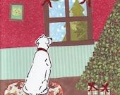 Watching For Santa christmas card