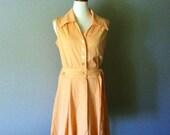 vintage 60s A Sue Brett Summer Peach Dress