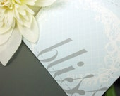 Baby Blue BLISS Note Cards (set of 8)
