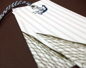 Nautical Striped Gift or Favor Tags