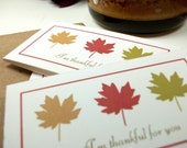 Thankful for You Mini Notecards