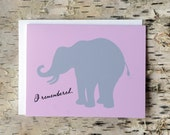 SALE Pink Elephant Note Cards