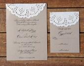 Sample Doily Wedding Invitation Set