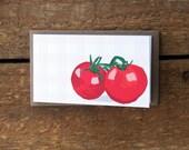 SALE Mini Tomato Note Cards