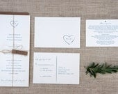 Rustic Wedding Invitation Sample