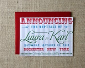 Circus Save the Date Cards