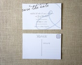 Modern Ampersand Save the Date Postcards