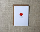 SALE Garden Tomato Note Cards
