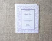 Damask Bridal Shower Invitations