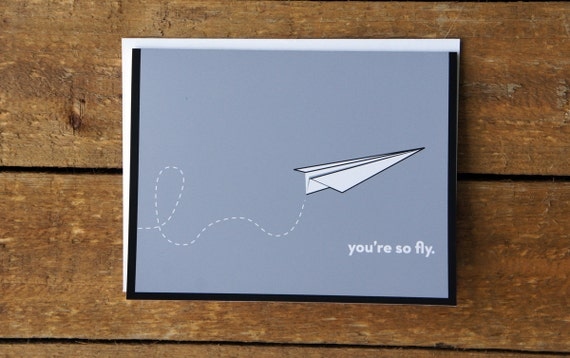 You're So Fly Note Card
