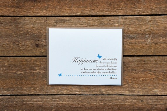Blue Happiness Note Cards (set of 5)