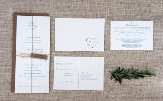 Rustic Wedding Invitation Sample