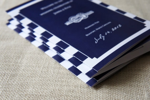 Nautical Wedding Programs