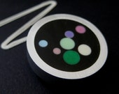 Resin and knitting needle necklace free shipping
