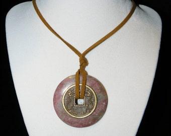 Robert Downey Jr Inspired Necklace-Rhodonite-Love