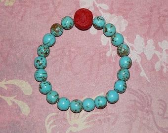 """Buddha Turquoise """"Long Life"""" Bracelet"""