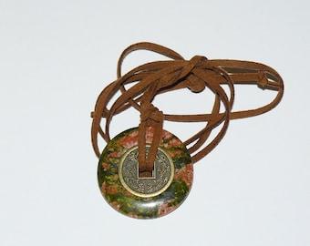 Mystic Necklace-- Unakite - Beauty