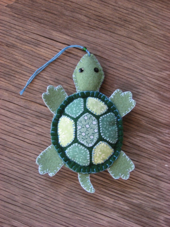 Turtle-felt ornament