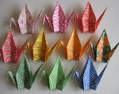 "10 Large Washi Chiyogami Cranes - 10 Designs, 6"" (15 cm) Japanese Washi Chiyogami, Origami Paper Cranes, Crane Bird, Chiyogami Crane"