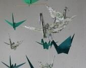 Large Origami Crane Mobile - Green
