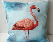 Pillow case Flamingo in 16x16 inch 40x40cm for throw pillow or accent pillow cushion cover, decorator pillow