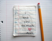 PERSONALIZED Note Hand Embroidered With Your Message, Eco Friendly Materials