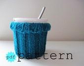 Knitting PATTERN, Ice Cream Cozy Knitting Pattern