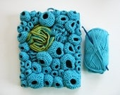 Fiber Art Mixed Media Soft Sculpture in Turquoise Blue - Lagoon